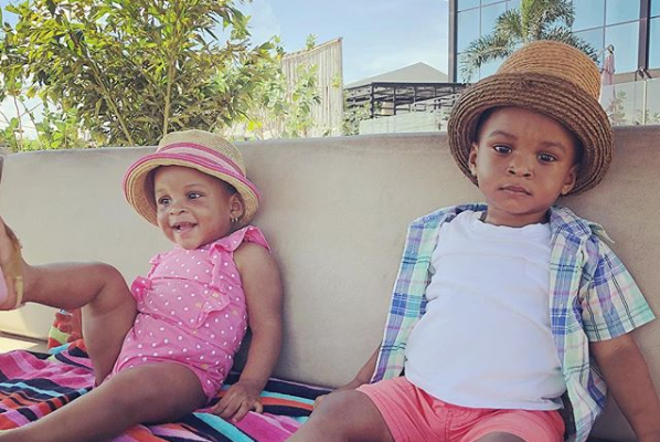Paul Okoye Shares Adorable Photo Of His Twins, Nathan & Nadia Chilling At The Beach