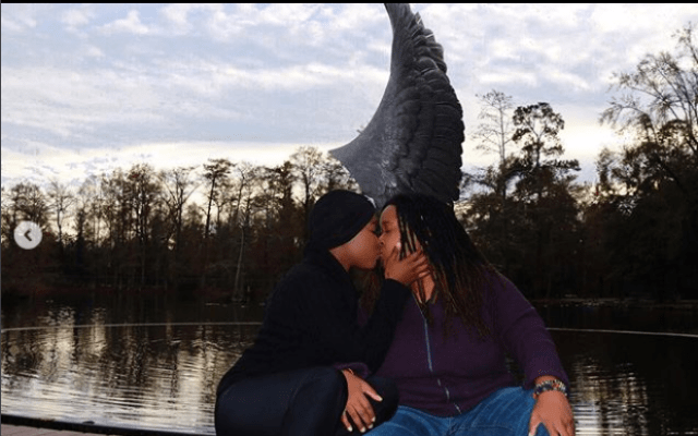 Charley Boy's Daughter, Dewy Oputa Locks Lips With Her Lesbian Partner (Photos)