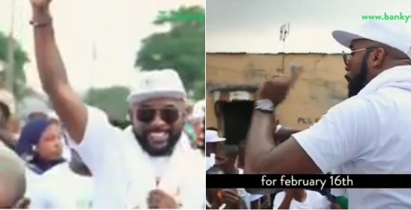 Banky W Begins Door To Door Campaign For Seat In The House Of Representatives (Videos)