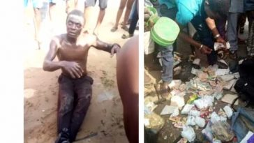 Man Caught For Allegedly Picking Used Sanitary Pads And Diapers In DELSU (Video)