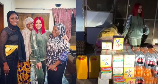 Blac Chyna Visits Orphanage Home To Donate Items In Lagos (Video)