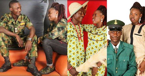Young Nigerian Soldier's Pre-wedding Photos Is Every Shades Of Beautiful