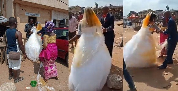 First Wife Attacks Husband's New Bride With Palm Oil During Wedding In Imo State