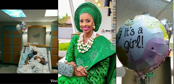 Actress Aisha Lawal Welcomes A Baby Girl In The US