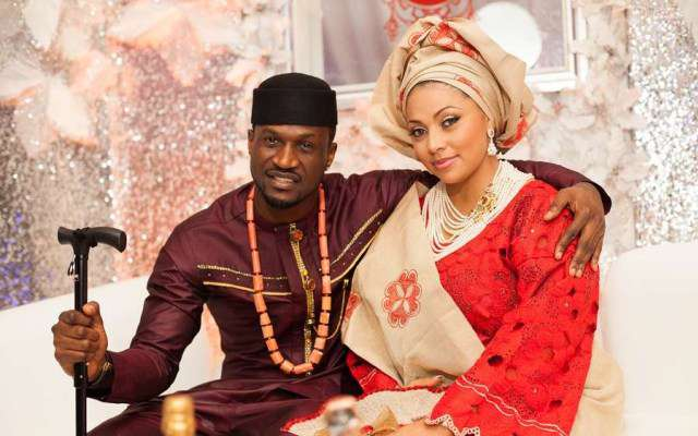 Peter Okoye Shades His Brother As He Celebrates His Wife, Lola On Their 5th Wedding Anniversary