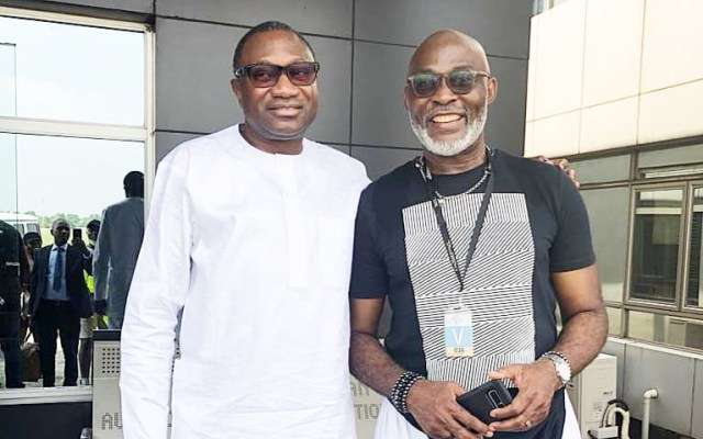 Billionaire, Femi Otedola Spends Time With RMD On Set (Photo)