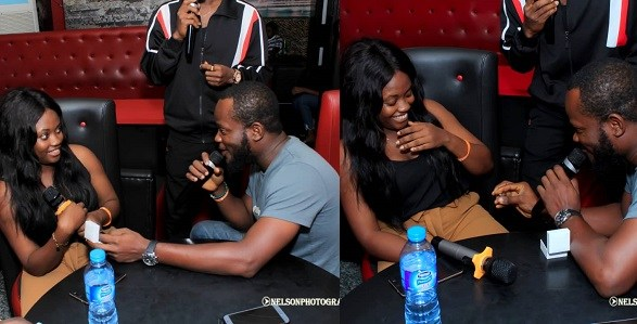 9 Months After Helping Him With Airtime, Nigerian Lady Gets Engagement Ring From Her Man (Photos)