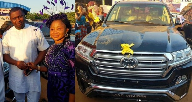 Nigerian Billionaire, Escoba Smith Who Gifted His Pastor A Prado SUV Last Year, Does It Again This Year With A New 2018 Toyota Landcruiser (Photos)