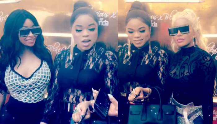 Bobrisky Meets With Blac Chyna And Dencia In Lagos (Video)