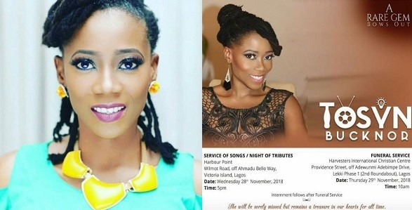 Tosyn Bucknor To Be Buried On Thursday, November 29th
