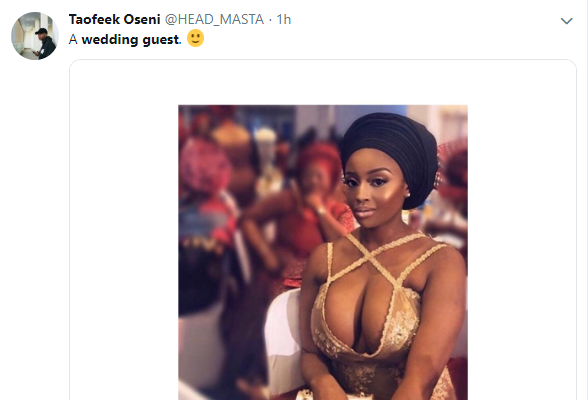 Check The Eye-popping Dress A Female Guest Wore To A Wedding