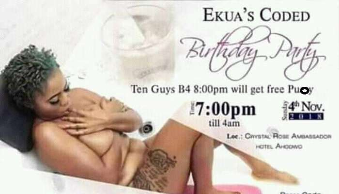 'Free Pu**y For The First 10 Guys' – Woman's Naked Scandalous Birthday IV Trends On Social Media (Photos)