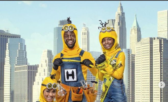 Kevin Hart And His Family Dress As Minions For 2018 Halloween (Photos)