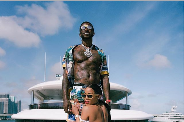Keyshia Ka'Oir Flaunt Her Curves As She Poses With Husband Gucci Mane In New Loved-up Photos
