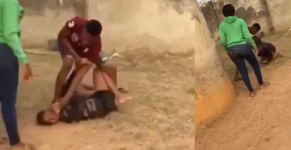 Nigerian Man Beats His Girlfriend For Alleged Cheating On Him