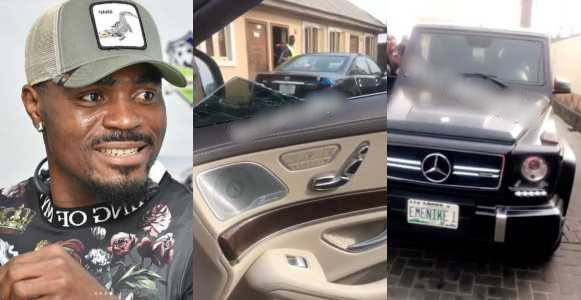 Baby Escapes Being Injured, As Footballer Emmanuel Emenike Breaks Her Mom's Car Glass (Video)
