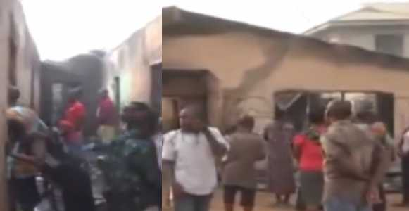Tragic Christmas: Dad, Mum And Baby Burnt To Death In House Fire In Benin (Photos)