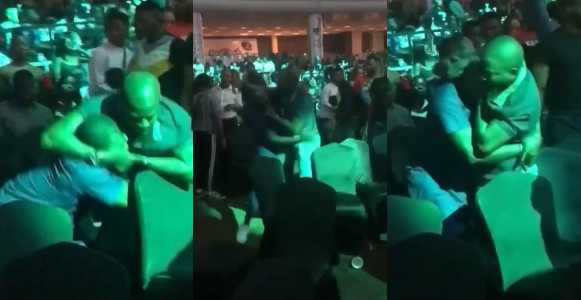 Husband Fights Another Man For Taking His Wife To BurnaBoy's Concert In Lagos Last Night (Video)