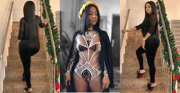 Toke Makinwa Shows Off Her Fixed Body In Swimsuit (Photos)