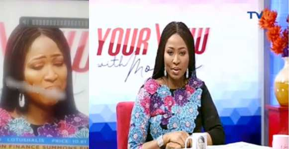 TVC's Morayo Tearfully Apologizes To Husband For Saying She Can't Allow Him Bathe Their Daughter (Video)