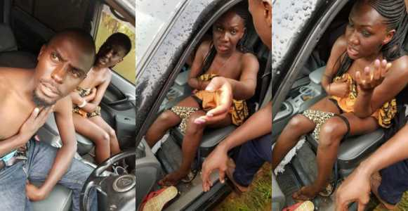 Couple Caught Sleeping In A Car, Shamed By Residents (photos)