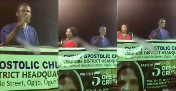 Prophet Kasali Seen Singing Songs By Smalldoctor, Skales, Falz And Others During A Vigil (Video)