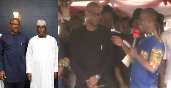 2019 Election: Fr. Mbaka Threatens Dr. Peter Obi & Atiku With Defeat For Inability To Donate Money To His Ministry (Video)