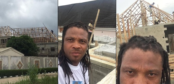 Check Out African China's Reply To A Troll Who Asked Him To Stop Showing Off His House That Is Still Under Construction