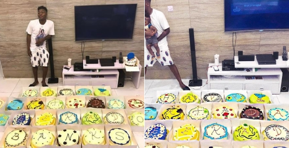 Reekado Banks Celebrates 25th Birthday With 25 Cakes