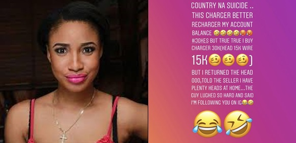 Onto Dikeh Cries Out After Buying An Iphone Charger For N30k