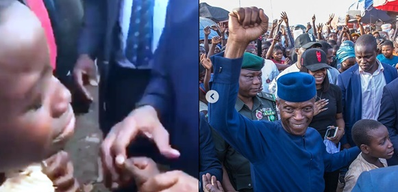 The Emotional Moment A Sobbing Boy Met VP Osinbajo In Abuja