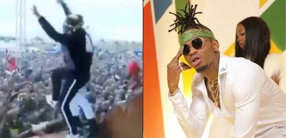 Diamond Platnumz Disappears As Stage Collapses During Performance