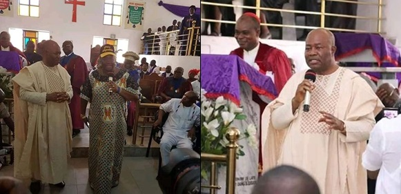 """You Can't Embarrass My Wife For Talking Politics In Church"" – Sen. Akpabio Criticises Bishop For Scolding His Wife During Church Service"