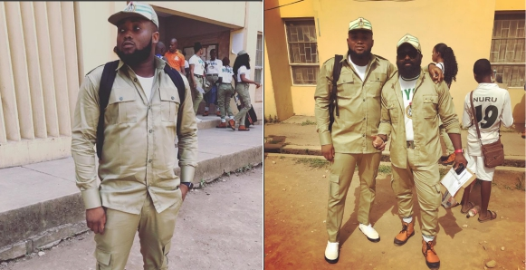 Popular Rapper, Chinko Ekun And Music Promoter Smade Begin NYSC Service In Lagos (Photos)