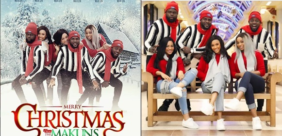 Comedian AY, His Brothers And Their Wives Release Beautiful Christmas Photos
