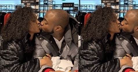 Lovebirds, Davido And Chioma Share Passionate Kiss As They Reunite In London