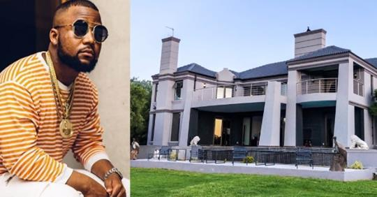 South African Rapper, Cassper Nyovest Shares Photo Of His Massive New Home