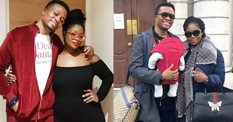 Lovely Photo Of Toolz, Her Hubby Tunde And Their Son