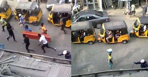 Residents Take To Their Heels As Mourners Are Filmed Swinging A Casket While Masquerades Extort Keke And Okada Riders (video)