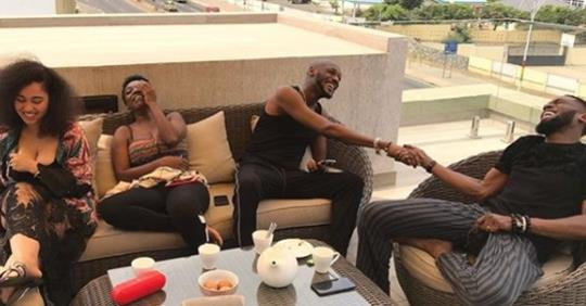 """""""Great Way To Start The Year"""" -Dbanj Declares As Him, 2face And Their Wives Go On Baecation In Ghana (Photos)"""