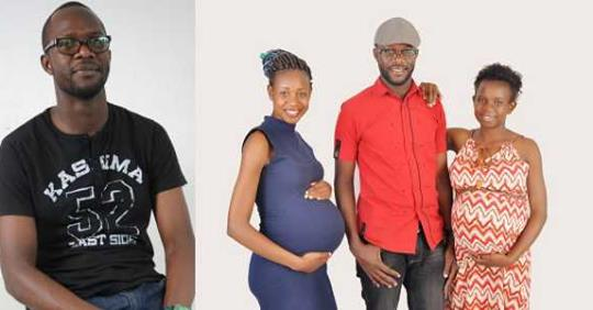Man Appreciates God As He Shares Photo Of His Two Wives Who Are Pregnant