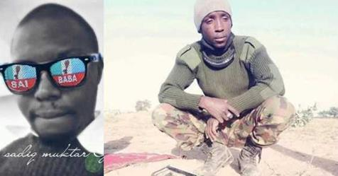 Nigerian Soldier Fighting Boko Haram, Uses Bullets To Profess His Love For His Partner