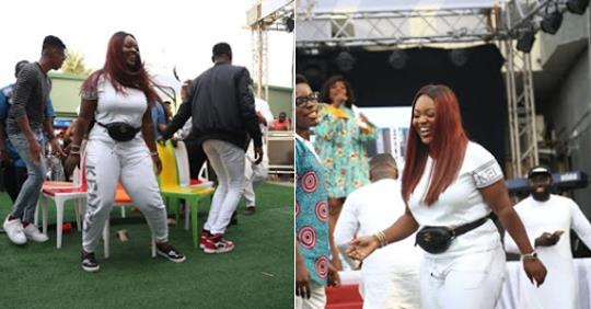 The Moment Jackie Appiah Fell Down During A Dance Competition