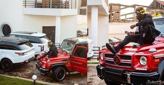 Dancehall Singer, Shatta Wale Shows Off His Expensive Whips (Photos)