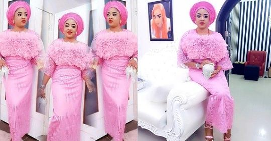 Actress, Tayo Sobola Looks Elegante In Pink Owambe Outfit (Photos)