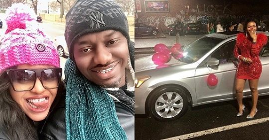 Nigerian Man Gifts His Lady A Car And Also Proposed To Her On Her Birthday (photos)