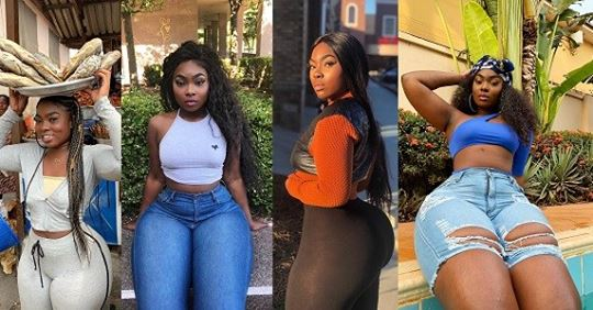 More Photos Of Ghanaian Slay Queen Who Was Spotted Selling Dry Fish