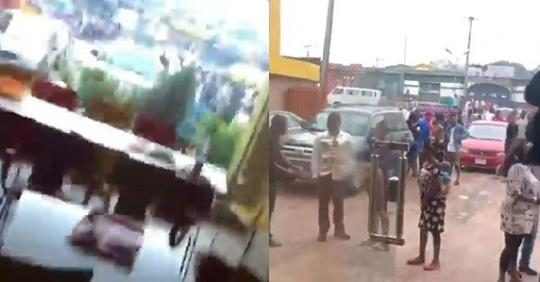 Robbers Allegedly Storm Popular Eatery In Lagos To Rob Only Customers (Video)
