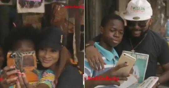 Banky W And Adesua Spotted Campaigning For Election From Door-To-Door In Lagos (Video)