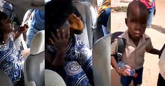 Woman Caught Attempting To Kidnap Young Boy At School Premises (Video)